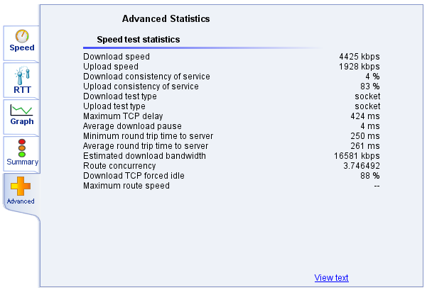 MyConnection Server Manual | What is a MySpeed Test?